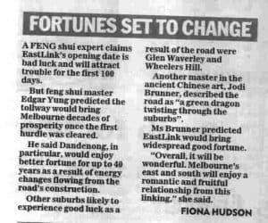 Feng shui Master Herald Sun interview 29062008