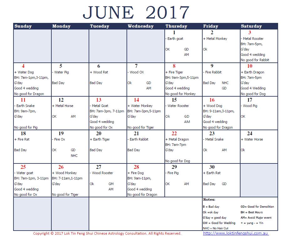 Good days June 2017