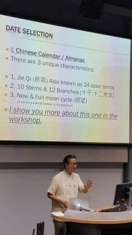 Date selection talk at Feng shui conferece 2017